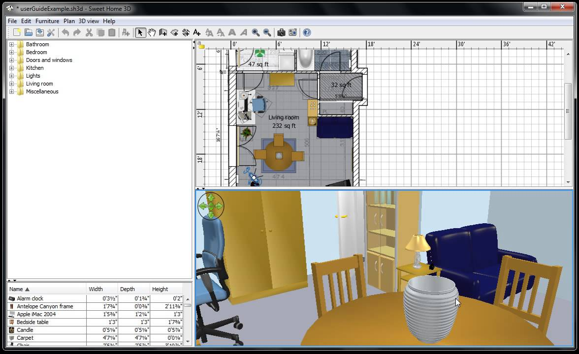 Sweet home 3d draw 2d and 3d house plans free software for Software arredamento 3d gratis