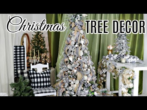 """🎄DIY HOW TO DECORATE A CHRISTMAS TREE w/RIBBON & DOLLAR TREE ORNAMENTS🎄2019""""I LOVE CHRISTMAS"""" ep13"""