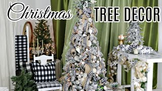 🎄DIY HOW TO DECORATE A CHRISTMAS TREE w/RIBBON & DOLLAR TREE ORNAMENTS🎄2019
