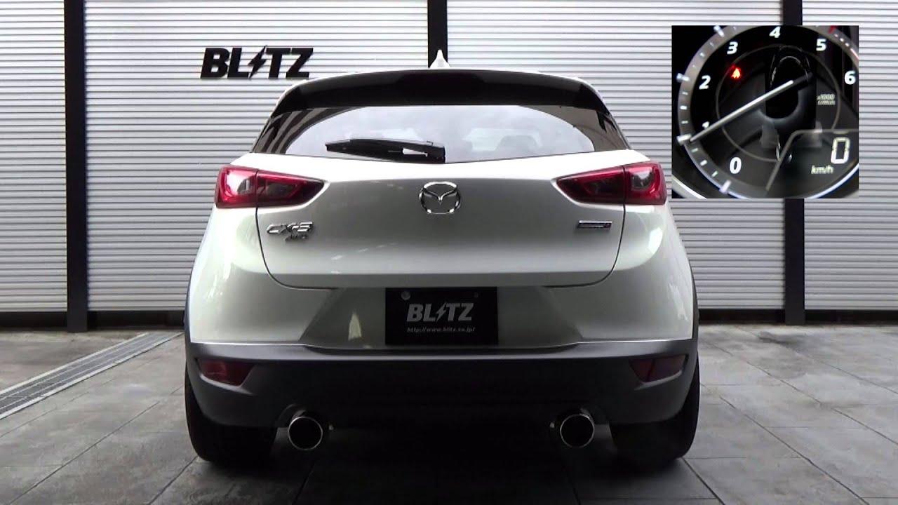 blitz nur spec vs dk5aw mazda cx 3 exhaust sound youtube. Black Bedroom Furniture Sets. Home Design Ideas