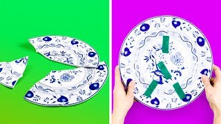 22 LIFE HACKS FOR CUPS AND PLATES