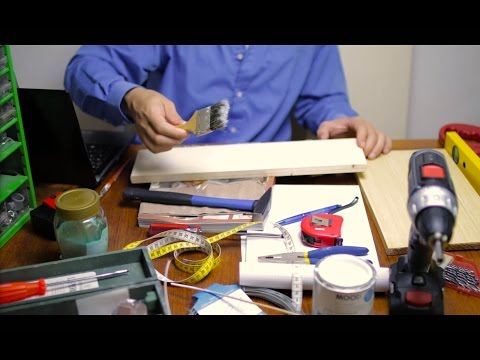ASMR Roleplay ✦ Insecure DIY Hardware Store Salesman (sand paper, brush, page turning & more)