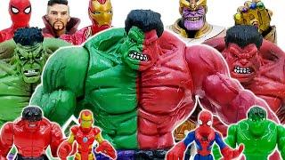 Marvel Avengers Spider Man, Iron Man, Hulk vs Thanos Villain Army | Toys Play Time