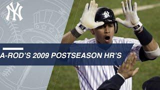 A-Rod's 2009 postseason HR's