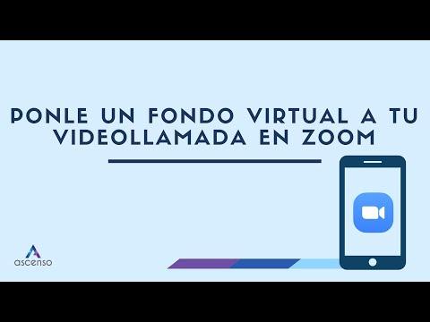 ¿Cómo cambiar el fondo de una videollamada en Zoom?