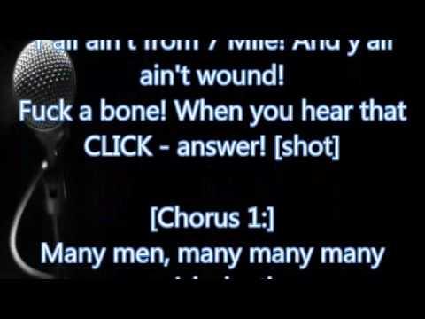 50 Cent - Many Men (Lyrics)