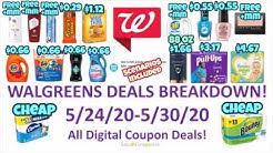 Walgreens Deals Breakdown 5/24/20-5/30/20! All Digital Deals!