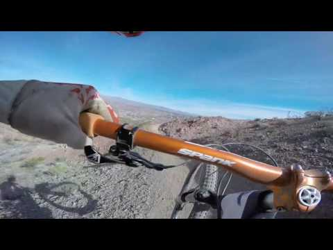 Riding DH Trails at Bootleg Canyon