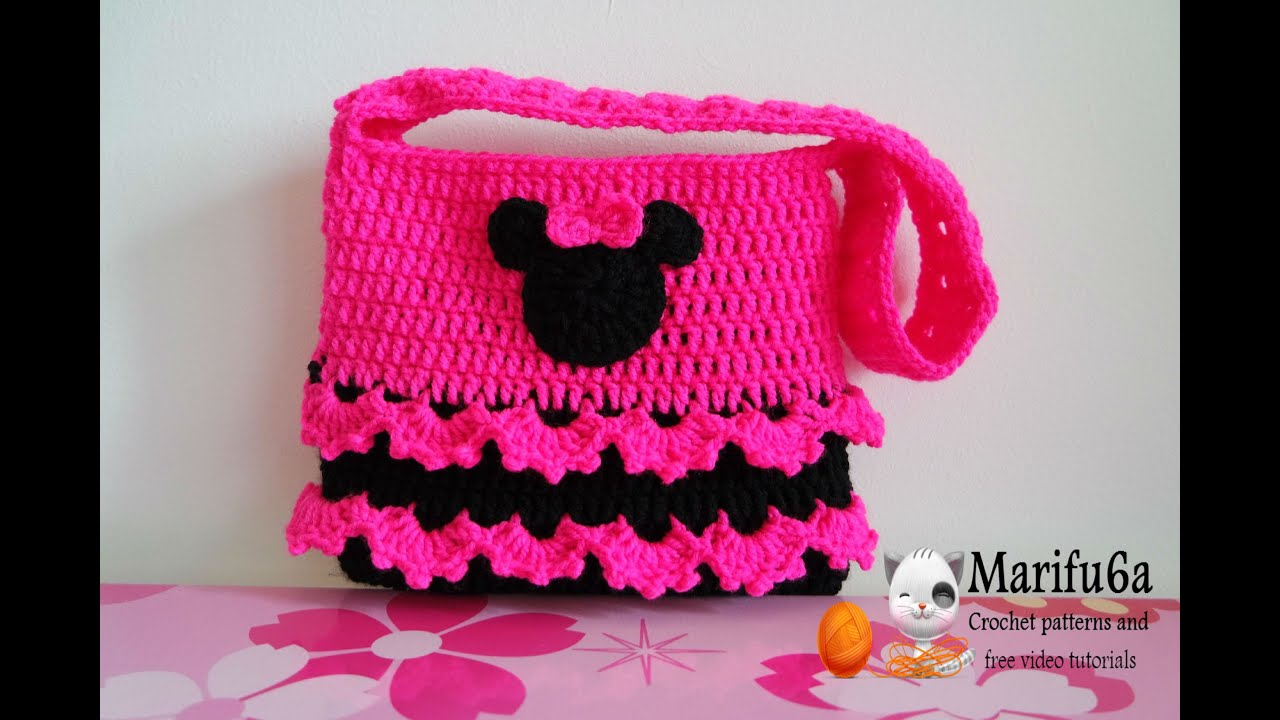 How to crochet minnie mouse bag soda tab purse full free pattern how to crochet minnie mouse bag soda tab purse full free pattern tutorial for beginners youtube pooptronica
