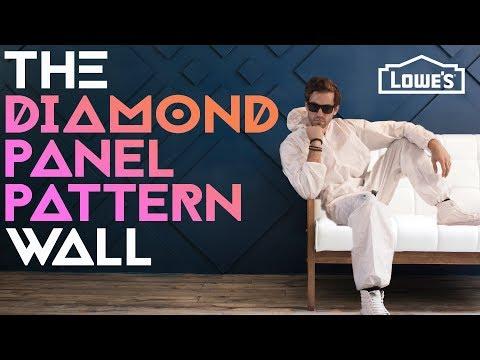 THE DIAMOND PANEL PATTERN WALL /// Experiment #001
