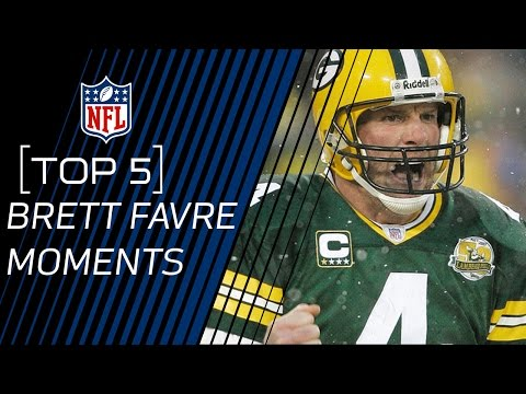 Top 5 Brett Favre Moments | 2016 Pro Football Hall of Fame Class | NFL