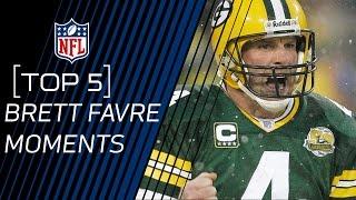 Top 5 Brett Favre Moments | 2016 Pro Football Hall of Fame Class | NFL