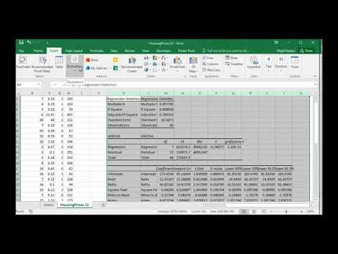 Stepwise Multiple Regression Excel