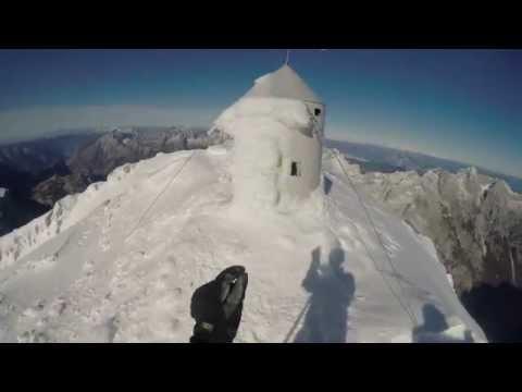 Triglav sestop do kredarice v snegu z dne  24.10.2015
