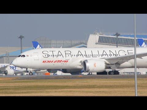 [STAR ALLIANCE] Air India (AIC) Boeing787-837 (VT-ANU) Narita International Airport 34L Takeoff