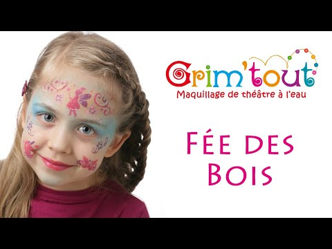 mod le maquillage enfant f e des bois youtube. Black Bedroom Furniture Sets. Home Design Ideas