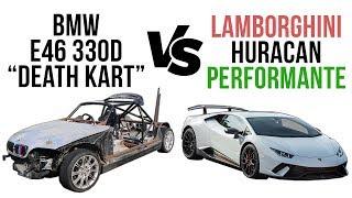 Driftland's BMW E46 330d vs Lamborghini Huracan Scrapyard Supercar