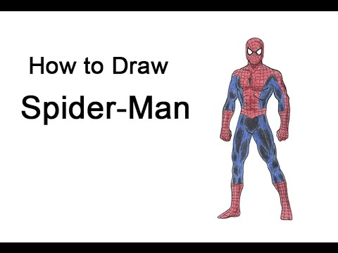 how to draw spider man full body youtube