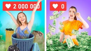 Богатая непопулярная vs бедная популярная Смешные ситуации