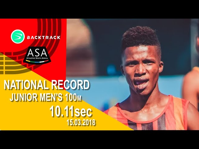 Dlodlo runs new SA JUNIOR 100m record!
