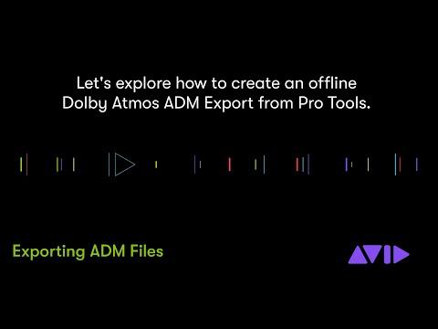 New in Pro Tools 2020 — ADM Export