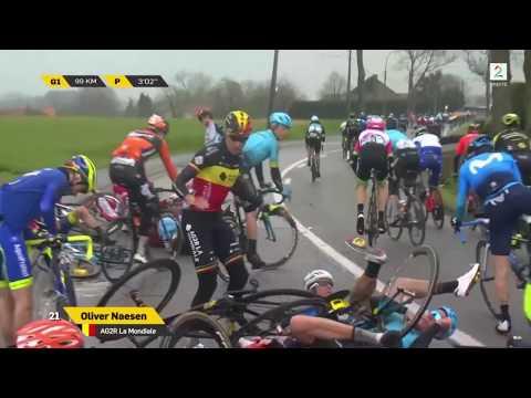 Tour of Flanders Massive Crash