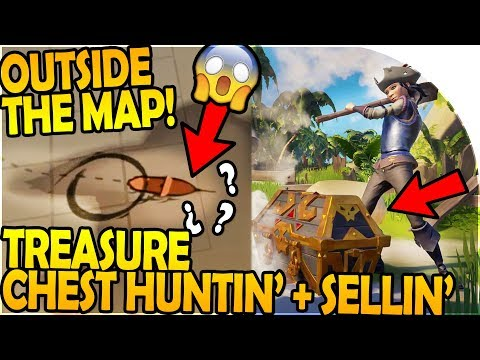 Going OUTSIDE OF THE MAP - TREASURE CHEST HUNTING and SELLING  - Sea of Thieves Beta Gameplay