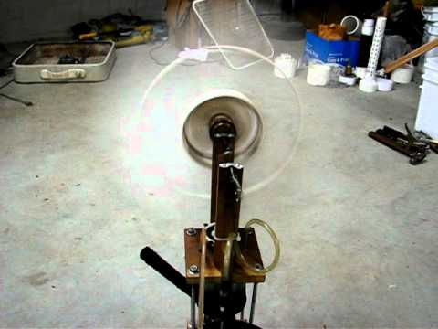 """Small DIY Stirling engine drives 19"""" fan, 350 rpm!"""
