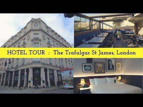 THE BEST ROOFTOP IN LONDON! Hotel Tour: Trafalgar St James, London