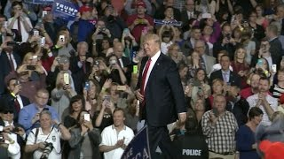 President Trump ignores Comey revelations at campaign-style rally in Kentucky