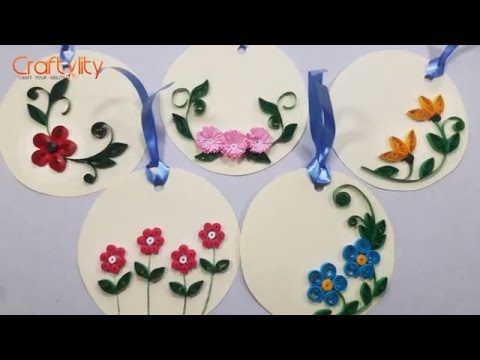 DIY Quilling for Beginners | How to make Quilling Floral Tags | Easy Quilling Tutorials