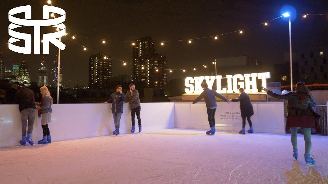 SKYLIGHT rooftop ice rink London | Vlog 18 - YouTube
