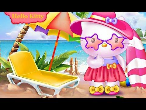 hello kitty summer break dress up games for girls youtube