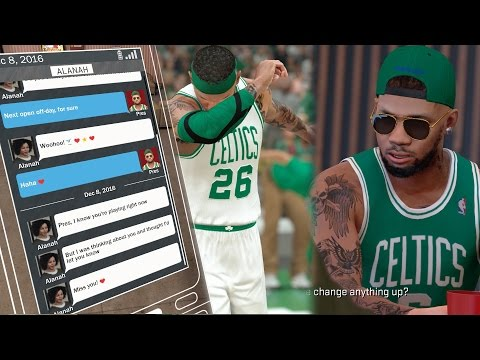 NBA 2k17 MyCAREER - Beautiful Girlfriend Text! Boston Wants To Trade Me For Defending Justice? Ep.38