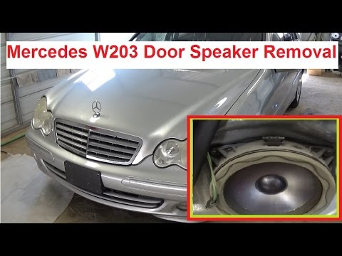 mercedes w203 front door speaker removal and replacement. Black Bedroom Furniture Sets. Home Design Ideas