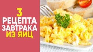 ТОП 3 рецепта ЗАВТРАКА из ЯИЦ  [Simple Food - видео рецепты]
