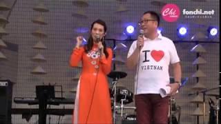 ベトナムフェスティバル2017の2日目のLove VIETNAM SHOWオープニングMC...