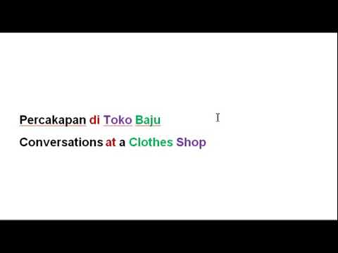 Indonesian For Beginners - Lesson 10