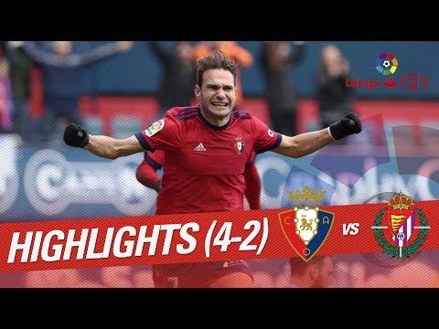 Resumen de Osasuna vs Real Valladolid (4-2)