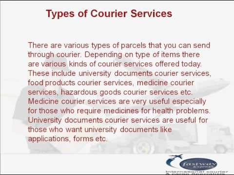 Courier Services -- International Courier Service, Benefits of Courier Service