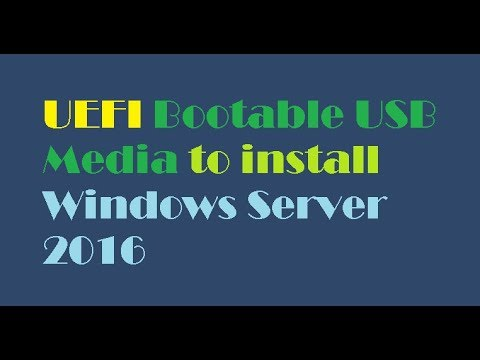 HOW TO Solve EFI Problem -UEFI Or BIOS Boot-Windows Server 2016/2019