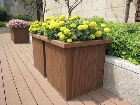 Plastic panel flower boxes outdoor deck boxes for sale for Garden decking for sale