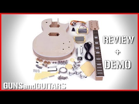 CHEAPEST LES PAUL Style DIY Kit Review and Demo (Ammoon LP Kit)