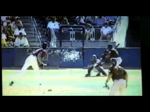 Randy Johnson hits a bird!!!