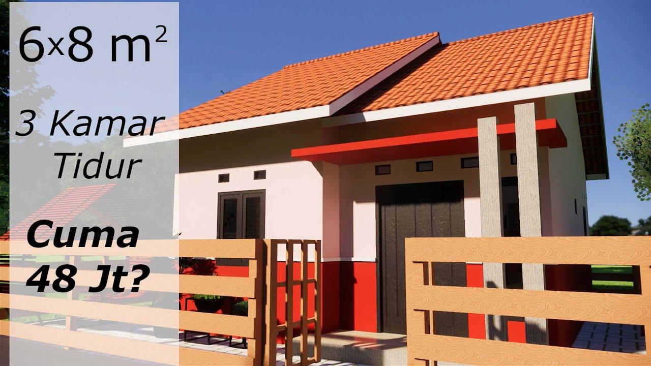 Rumah Sederhana 6x8 - 3 Kamar Tidur - Cuma 48 Juta - YouTube