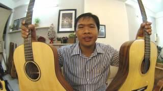 GTGuitarshop guitar review - Ân Guitar D27 Vs Thuận Guitar DT-01