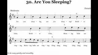Nhạc Thiếu Nhi Vui Khỏe - Are You Sleeping with lyrics - Nhạc thiếu nhi tiếng anh hay nhất