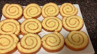 Cách làm bánh bông Lan cuộn không tách lòng-How to make roll sponge cake without separating eggs