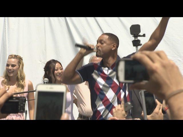 Will Smith hace cantar a todos durante el panel de 'Escuadrón Suicida'