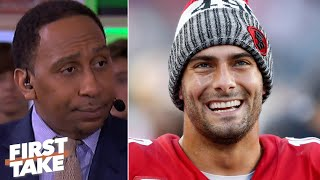 Stephen A. is still waiting for Jimmy Garoppolo to be tested by a great defense | First Take